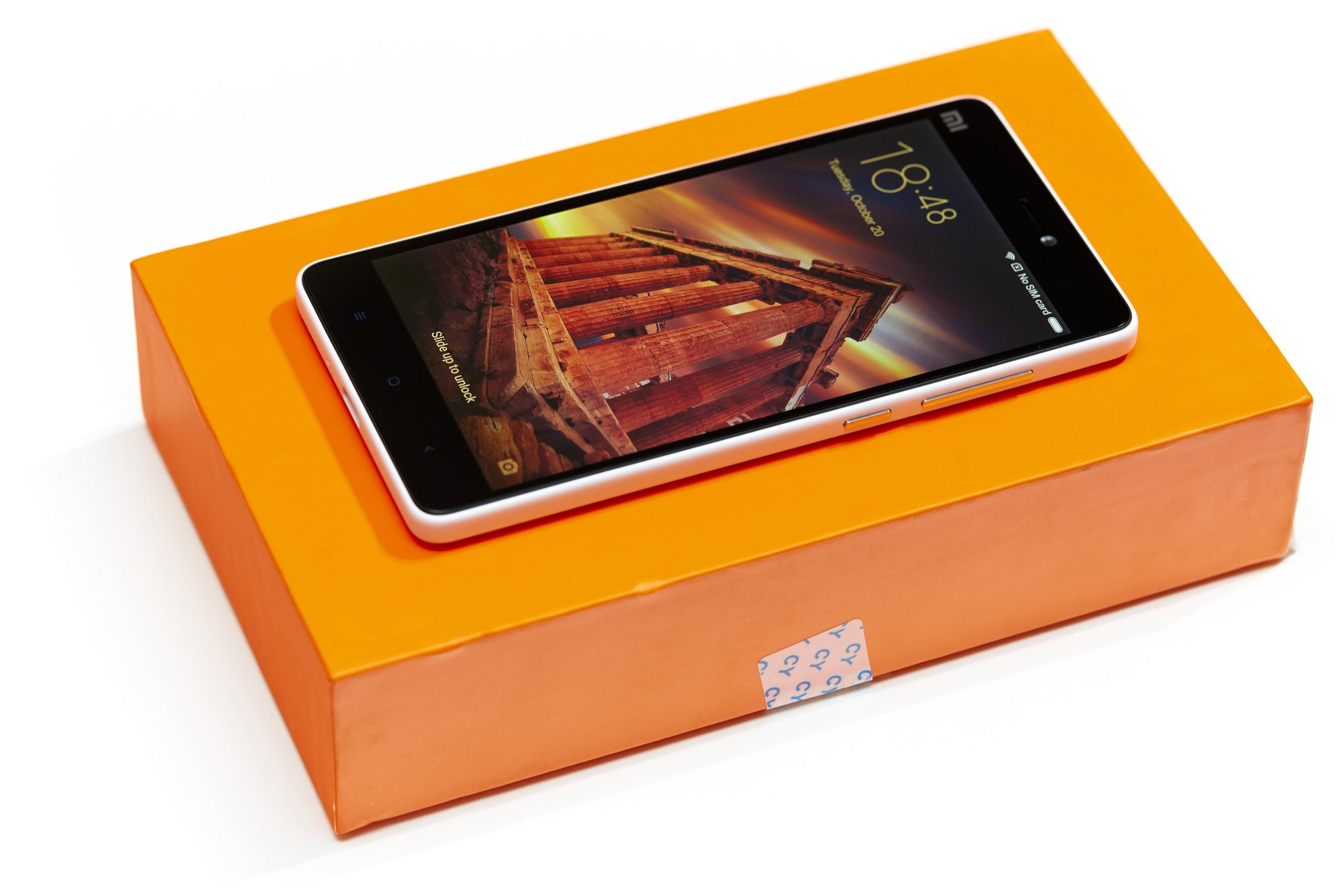 Xiaomi Mi 4c Gnstiges Smartphone Mit Usb Type C Im Test 3gb 32gb White Die Verpackung Kommt Peppigen Orange Daher