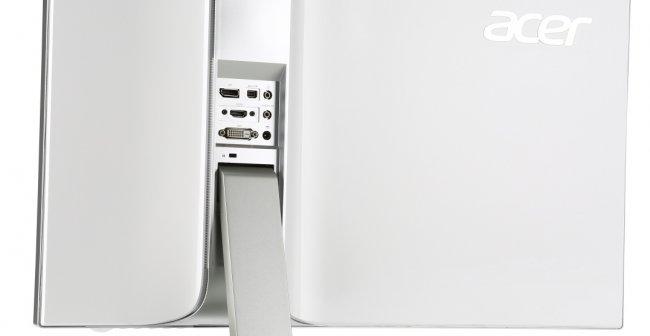 Der Acer S277HK kann via HDMI 2.0, DisplayPort (DP) 1.2, miniDP und DVI angeschlossen werden [Bildmaterial: Acer]