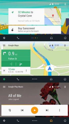 Optisch setzt Android Auto voll und ganz auf das neue Material Design von Android L [Bildmaterial: Google]