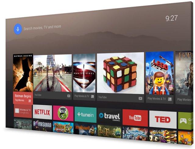 So könnte das Fernsehbild zukünftig mit Android TV aussehen [Bildmaterial: Google]