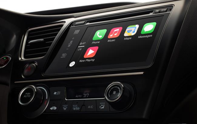 So könnte es aussehen in einem Fahrzeug, welches CarPlay unterstützt. [Bildmaterial: Apple]