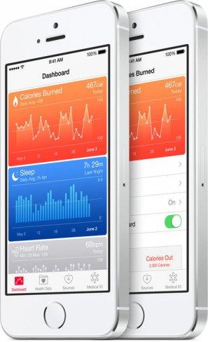 Im HealthKit werden alle relevanten Daten über die eigene Gesundheit aufgezeichnet [Bildmaterial: Apple]