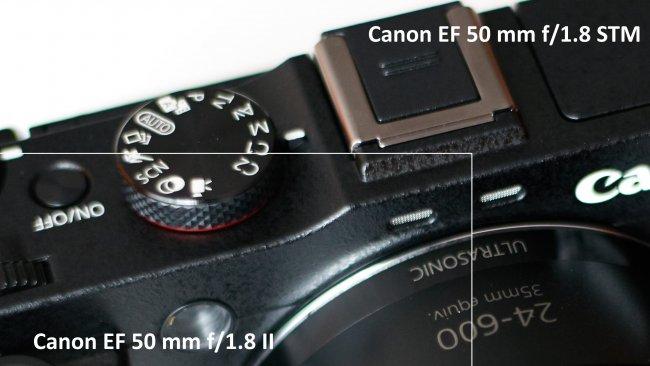 Bildschärfe-Vergleich: Canon EF 50 mm f/1.8 II und Canon EF 50 mm f/1.8 STM   f/1.8, Canon EOS 5Ds