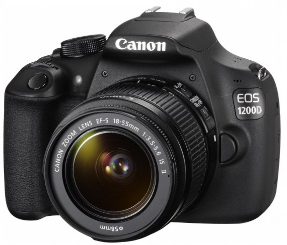 Canon EOS 1200D + 18-55 mm IS II Kit-Objektiv [Bildmaterial: Canon]