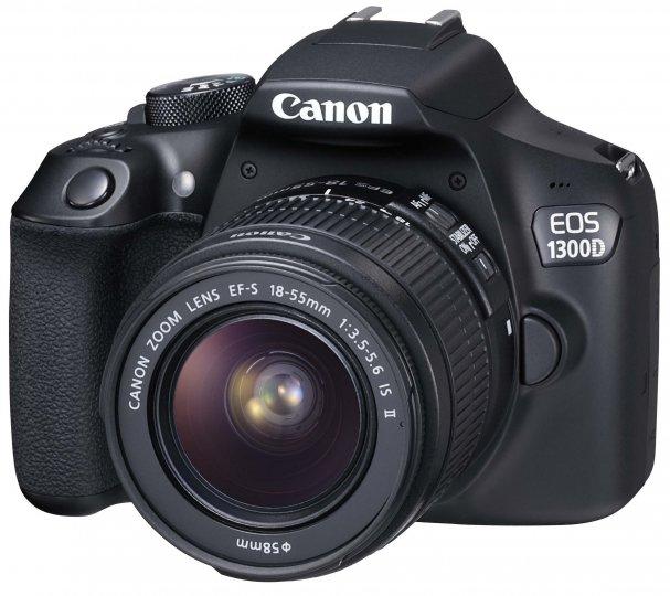 Canon EOS 1300D mit EF-S 18-55 mm IS II Kit-Objektiv [Bildmaterial: Canon]