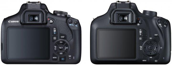 Canon EOS 2000D (li.) und 4000D im Vergleich: Die 2000D wirkt deutlich hochwertiger verarbeitet [Bildmaterial: Canon]