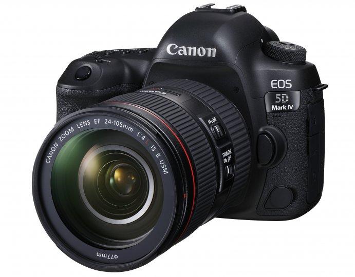 Canon EOS 5D Mark IV: Als Kit-Objektiv kommt nun das 24-105 mm f/4L IS II USM zum Einsatz [Bildmaterial: Canon]