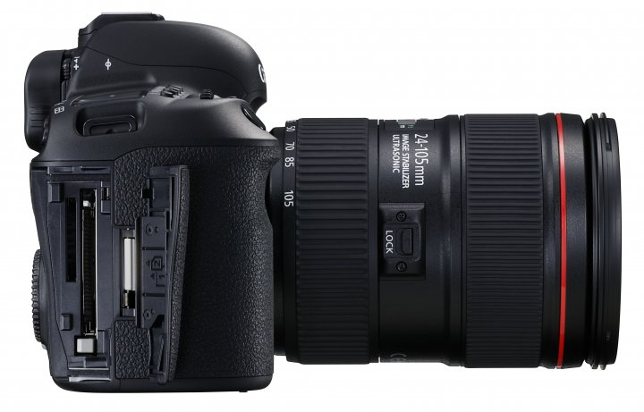 Canon EOS 5D Mark IV: CompactFlash- und SD-Speicherkarten-Slot bleiben erhalten [Bildmaterial: Canon]