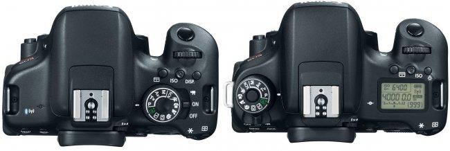 Canon EOS 750D (links) und 760D im Vergleich [Bildmaterial: Canon]