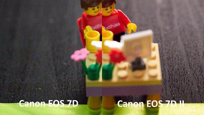 Bildrauschen bei ISO-3200 im Vergleich: Canon EOS 7D vs 7D Mark II