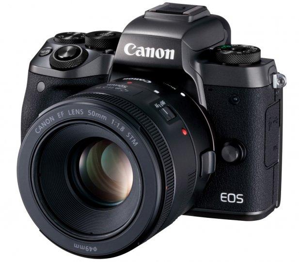 Canon EOS M5 mit EF-EOS M Adapter und EF 50 mm f/1.8 STM [Bildmaterial: Canon]