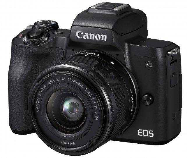 Canon EOS M50: Neben der schwarzen ist auch eine weiße Farbversion geplant [Bildmaterial: Canon]