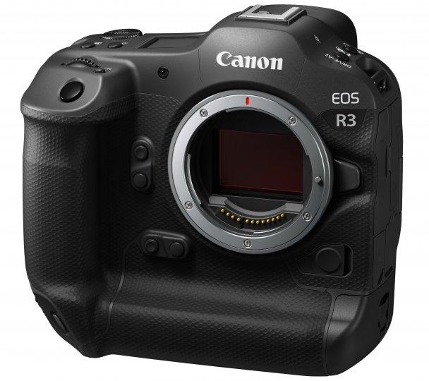 Canon EOS R3: Der Stacked-BSI-CMOS-Sensor löst mit 24 Megapixeln auf uns besitzt einen 5-Achsen-Stabilisator [Bildmaterial: Canon Deutschland]