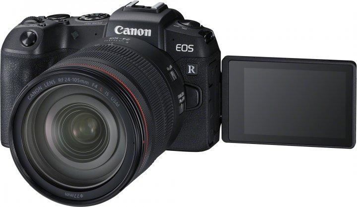Canon EOS RP: Das dreh- und schwenkbare Display bleibt genauso wie ein Kopfhörer- und Mikrofon-Anschluss [Bildmaterial: Canon]