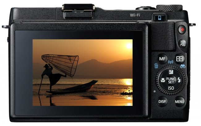 Canon PowerShot G1 X Mark II - Touchdisplay auf der Rückseite [Bildmaterial: Canon]