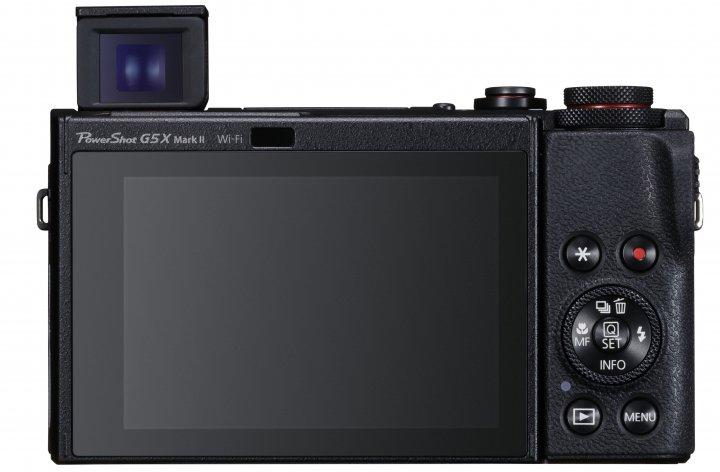 Canon PowerShot G5 X Mark II: Der OLED-Sucher fährt per Knopfdruck aus dem Gehäuse [Bildmaterial: Canon Deutschland]