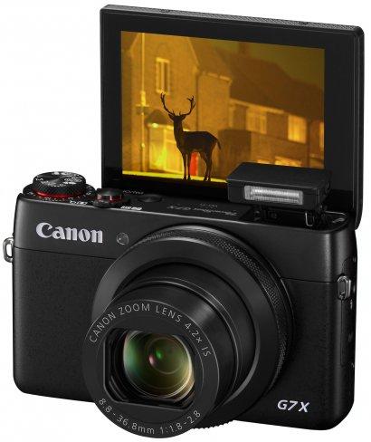 Die neue PowerShot G7 X verfügt unter anderem über ein klappbares Display mit Touch-Funktion [Bildmaterial: Canon]
