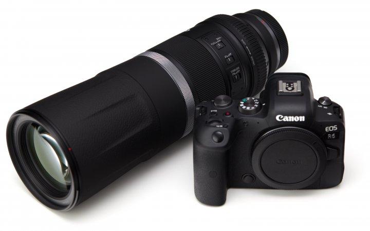 Canon RF 800 mm f/11 IS STM, zusammen mit der Canon EOS R6