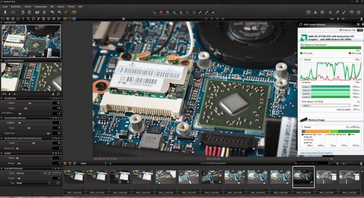 Capture One 7 auf dem ASUS U38N mit OpenCL-Beschleunigung