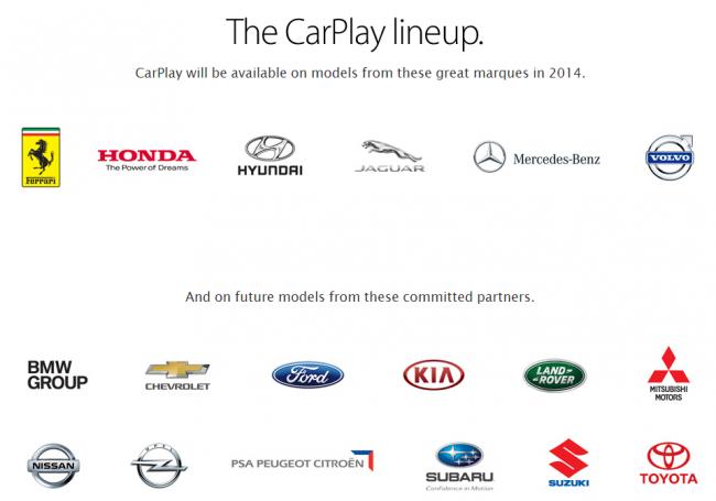 Apple CarPlay Lineup: Diese Hersteller bringen noch dieses Jahr oder zukünftig neue Modelle, die die Schnittstelle unterstützen. [Bildmaterial: Apple]
