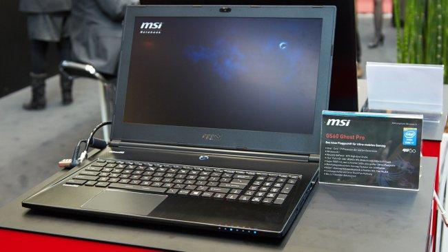 MSI GS60 Ghost Pro mit 3K-Display auf der CeBIT 2014