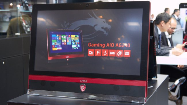 MSI All-in-One-PC AG2712A auf der CeBIT 2014