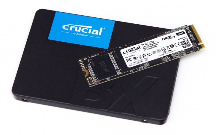 Crucial NVMe-SSD P1 (1 TB) und BX500 (960 GB)