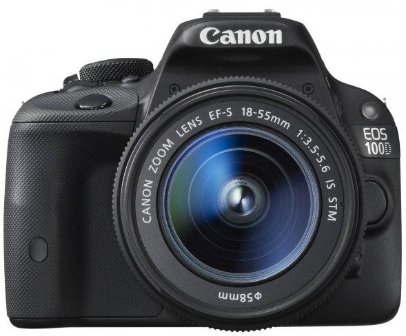 Canon EOS 100D Front mit 18-55mm IS STM (Quelle: Canon.de)