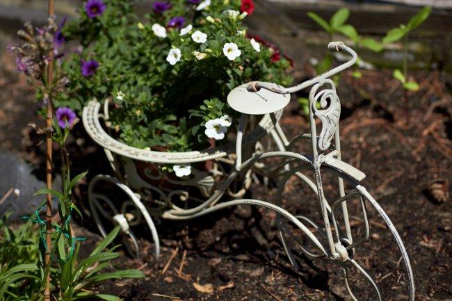 Wollte mal ein Fahrrad werden: Blumentopf