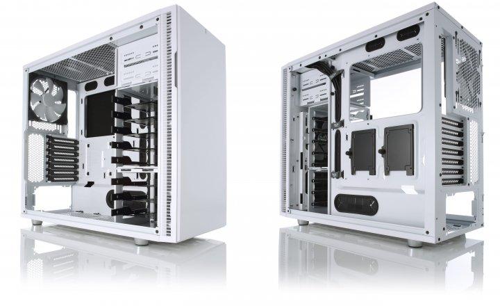 Fractal Design Define R5 White Edition: Hier soll alles hinein und wenig Geräuschemissionen hinaus. [Bildmaterial: Fractal Design]
