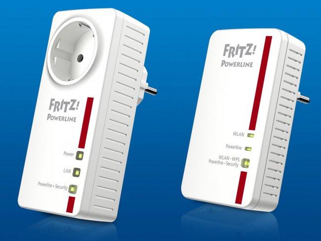 Fritz!Powerline 1220E (links) und 1240E (rechts): Mit bis zu 1.200 Mbit/s über die Steckdose unterwegs (Quelle: AVM)