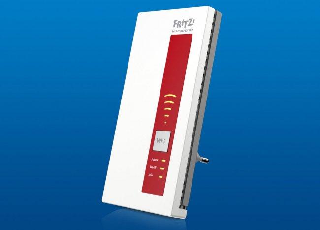 Fritz!WLAN Repeater 1160: Etwas abgespecktes Modell, dass nur 866 Mbit/s nach dem ac-Standard bietet (Quelle: AVM)