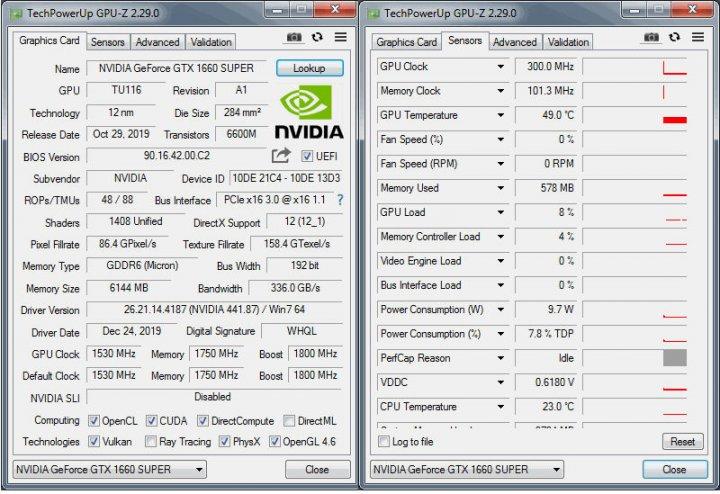 KFA2 GTX 1660 Super [1-Click-OC] GPU-Daten