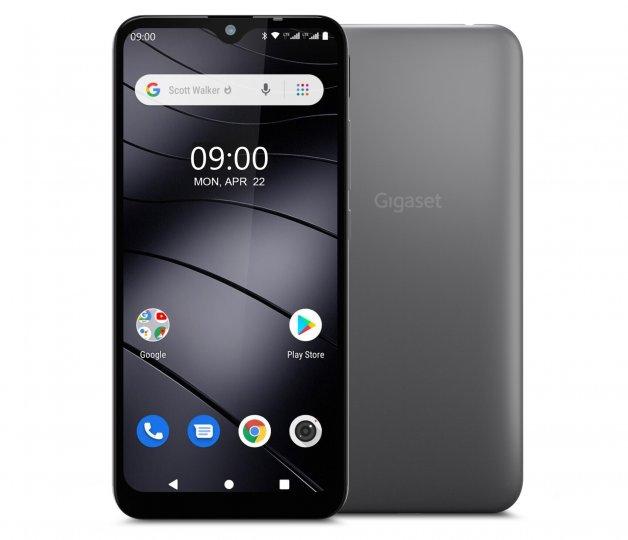 Das Gigaset GS110 läuft auf Android Go und bietet ein robustes Polycarbonat-Gehäuse