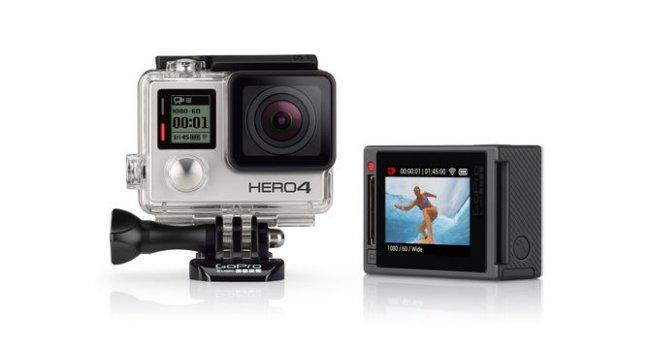 Als erstes Modell des Herstellers bietet die Hero 4 Silver ein Touchscreen-Display auf der Rückseite [Bildmaterial: GoPro]