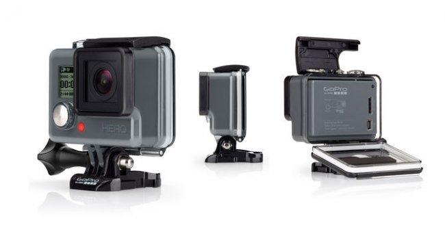 Als neue Einsteigerkamera ist die GoPro Hero stark abgespeckt, dafür aber auch sehr günstig [Bildmaterial: GoPro]
