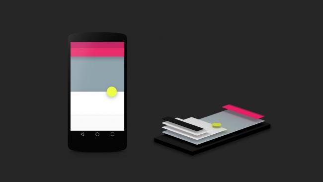 Optisch setzt Android L auf das Material Design, welches in Layern aufgebaut ist [Bildmaterial: Google]