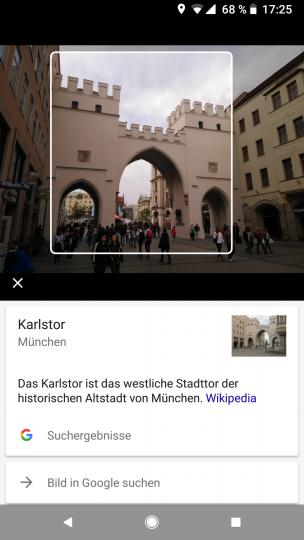 Google Lens funktioniert momentan nur in Google Fotos und die Datenbank ist noch nicht so umfangreich