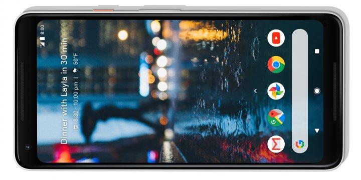 Das längliche 18.9-Format des Displays des Google Pixel 2 XL eignet sich vor allem zum Betrachten von Filmen