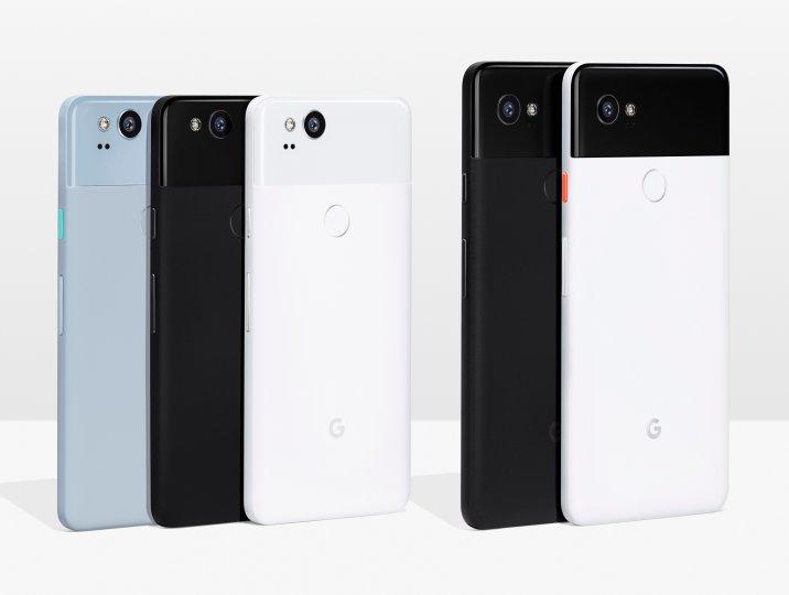 Das Google Pixel XL 2 ist mit seinem Sechs-Zoll-Display deutlich größer als das Google Pixel 2 mit seinem Fünf-Zoll-Display