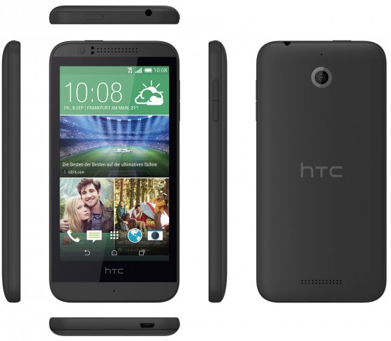 Das Desire 510 soll LTE in die Einsteigerklasse bringen, geizt dafür aber bei der restlichen Ausstattung [Bildmaterial: HTC]