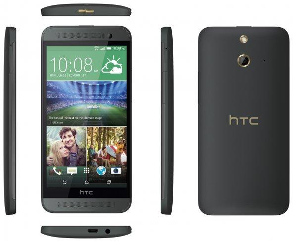 Die Ausstattung des One (E8) gleicht weitestgehend dem normalen M8, dafür ist die Hülle aus Kunststoff [Bildmaterial: HTC]