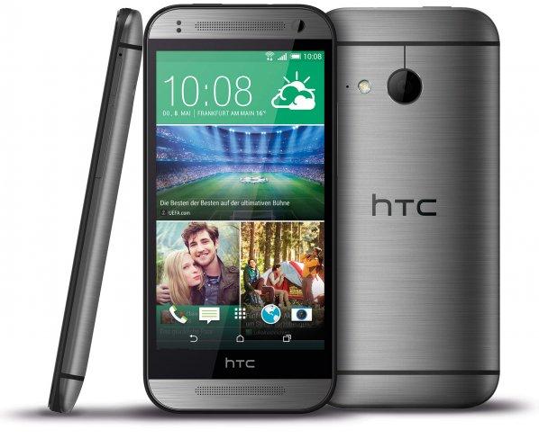 Äußerlich ist das One Mini 2 kaum vom großen Bruder zu unterscheiden, am auffälligsten ist das Fehlen der zweiten Kamera [Bildmaterial: HTC]