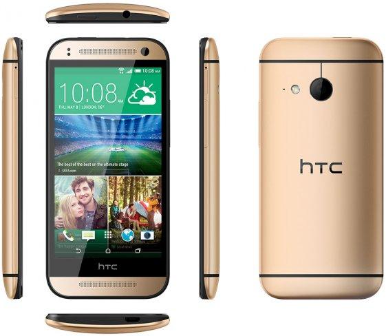 Im Gegensatz zum großen M8 verfügt das One Mini 2 über einen Kunststoffrahmen, hier in Schwarz gehalten [Bildmaterial: HTC]