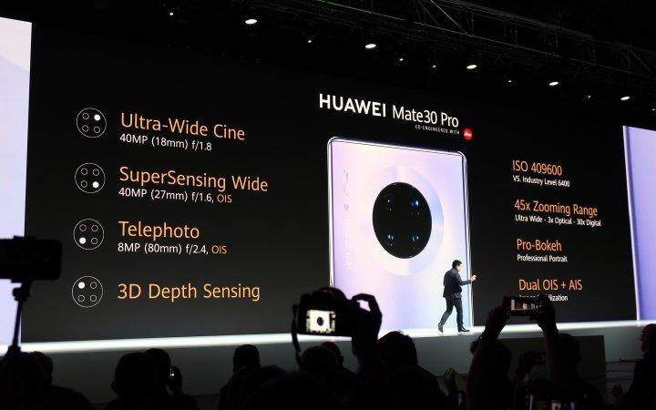 Kamera-Ausstattung des Huawei Mate 30 Pro