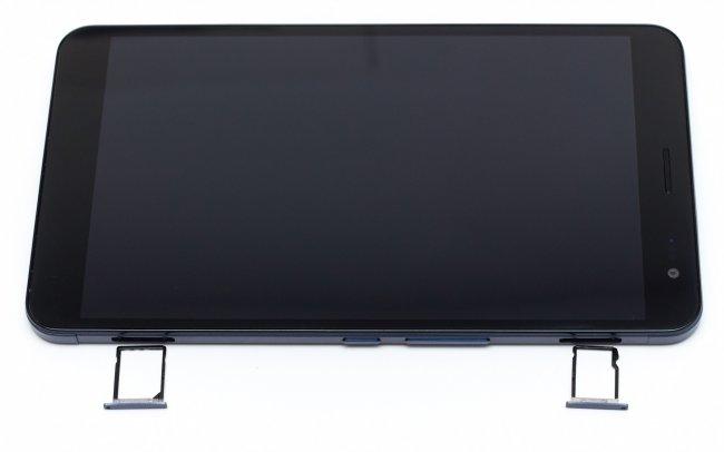 Huawei MediaPad X1 7.0: Display, Bedienelemente und Slots für microSD- sowie SIM-Karte