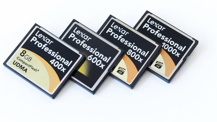 Lexar 400x (8 GByte), 600x (8 GByte), 800x (16 GByte) und 1000x (16 GByte) CompactFlash-Speicherkarte