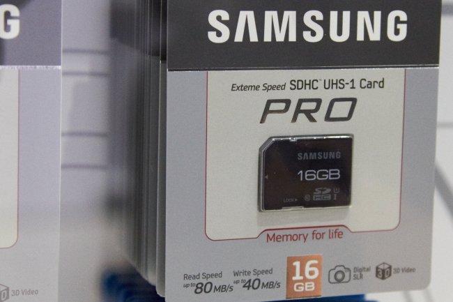 Samsung SDHC Pro Serie mit UHS auf der IFA 2012