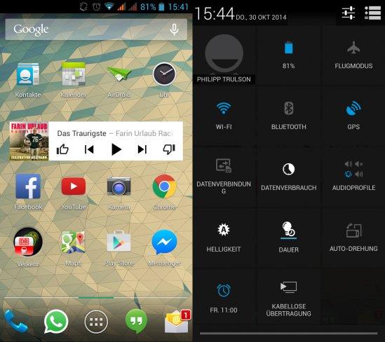 Eine eigene Oberfläche besitzt das Tornado nicht, stattdessen nutzt man weitestgehend ein Standard-Android 4.2