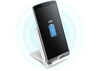 Wie immer mehr Modelle lässt sich auch das LG G3 nach dem Qi-Standard kabellos aufladen [Bildmaterial: LG]